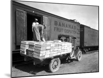Loading Peaches in Car at Donald, 1928-Asahel Curtis-Mounted Giclee Print