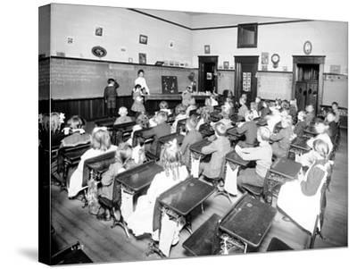 Rainier School - Primary, 1905-Asahel Curtis-Stretched Canvas Print