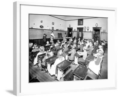 Rainier School - Primary, 1905-Asahel Curtis-Framed Giclee Print