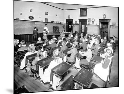 Rainier School - Primary, 1905-Asahel Curtis-Mounted Giclee Print
