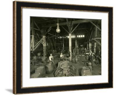 Rainier Brewing and Malting Co., Cooper Shop, 1914-Asahel Curtis-Framed Giclee Print