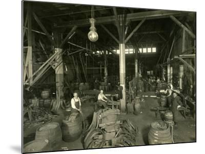 Rainier Brewing and Malting Co., Cooper Shop, 1914-Asahel Curtis-Mounted Giclee Print