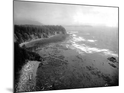 Coast South of Cape Flattery, 1910-Asahel Curtis-Mounted Giclee Print