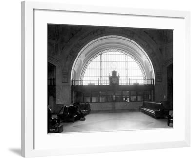 Train Station with Vaulted Archway, Circa 1911-Asahel Curtis-Framed Giclee Print