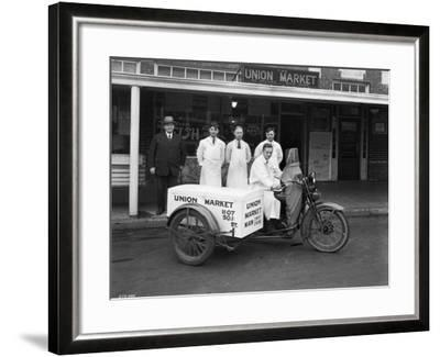Union Market Delivery Motorcycle, 1927-Chapin Bowen-Framed Giclee Print