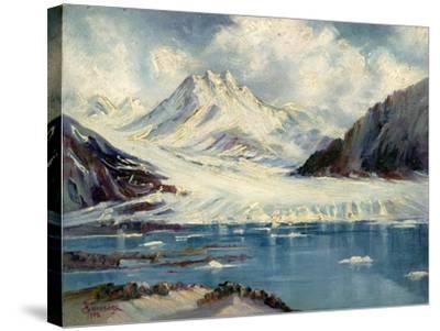 Alaska Glacier From Richardson Highway-Anna P. Gellenbeck-Stretched Canvas Print