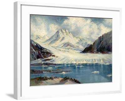 Alaska Glacier From Richardson Highway-Anna P. Gellenbeck-Framed Giclee Print