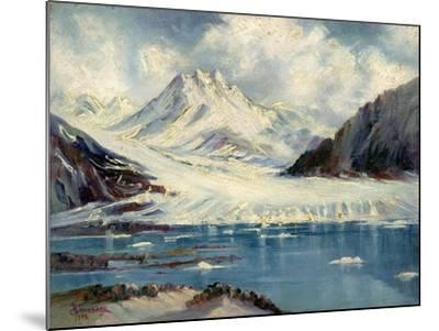 Alaska Glacier From Richardson Highway-Anna P. Gellenbeck-Mounted Giclee Print