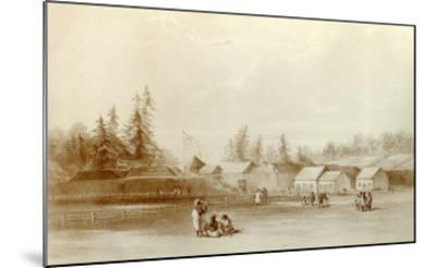 Fort Vancouver, 1845-Henry Warre-Mounted Giclee Print