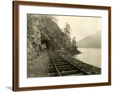 Lake Crescent Road, 1918-Asahel Curtis-Framed Giclee Print