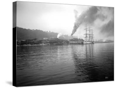 Tacoma Waterfront, 1915-Asahel Curtis-Stretched Canvas Print