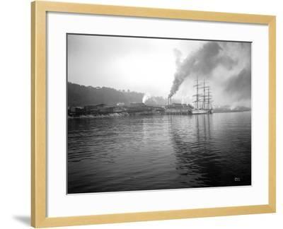 Tacoma Waterfront, 1915-Asahel Curtis-Framed Giclee Print