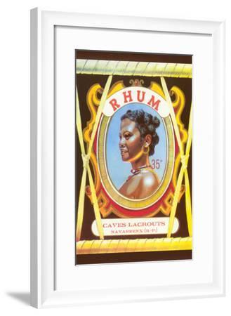 Rhum, Black Woman--Framed Art Print