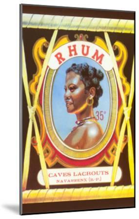 Rhum, Black Woman--Mounted Art Print
