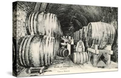 Wine Casks in Storage, Moet et Chandon--Stretched Canvas Print