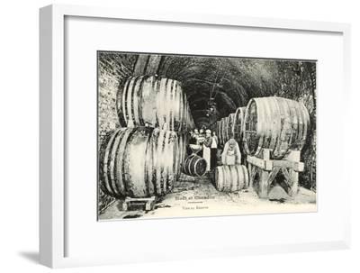 Wine Casks in Storage, Moet et Chandon--Framed Art Print
