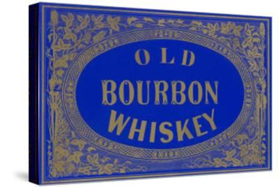 Old Bourbon Whiskey Sign--Stretched Canvas Print