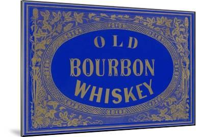 Old Bourbon Whiskey Sign--Mounted Art Print