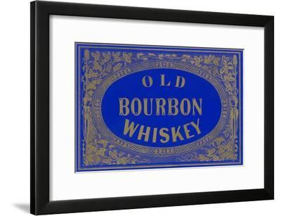 Old Bourbon Whiskey Sign--Framed Art Print