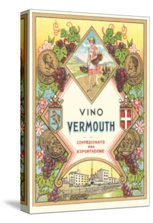 Italian Vermouth Label--Stretched Canvas Print