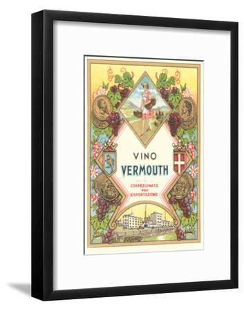 Italian Vermouth Label--Framed Art Print