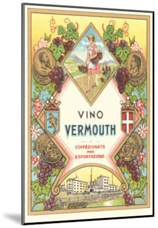 Italian Vermouth Label--Mounted Art Print
