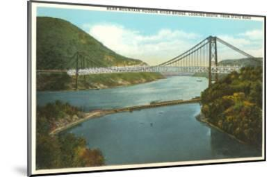 Bridge over Hudson River, New York--Mounted Art Print