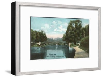 Washington Park, Albany, New York--Framed Art Print