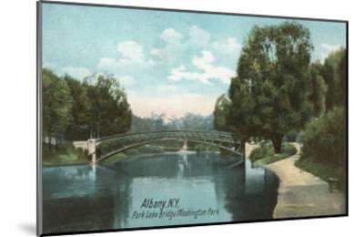 Washington Park, Albany, New York--Mounted Art Print