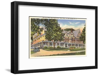 The Inn at Silver Bay, Lake George, New York--Framed Art Print