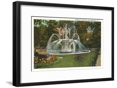 Memorial Fountain, Poughkeepsie, New York--Framed Art Print
