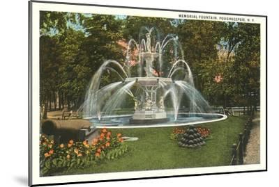 Memorial Fountain, Poughkeepsie, New York--Mounted Art Print