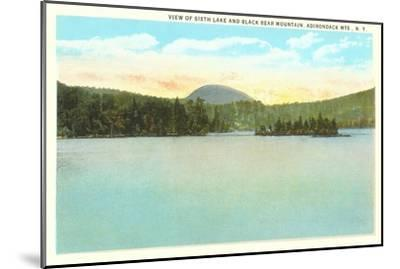 Sixth Lake, Adirondacks, New York--Mounted Art Print