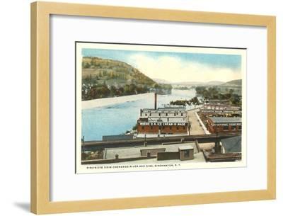 Chenango River, Binghamton, New York--Framed Art Print