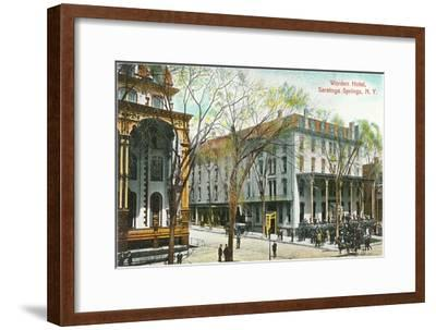 Worden Hotel, Saratoga Springs, New York--Framed Art Print