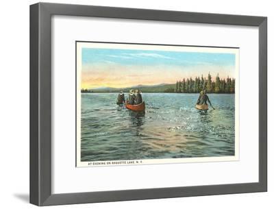 Canoing on Raquette Lake, New York--Framed Art Print