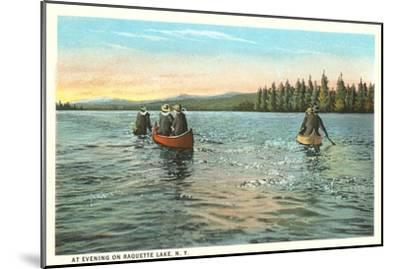 Canoing on Raquette Lake, New York--Mounted Art Print