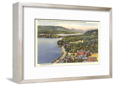 Mirror Lake, Lake Placid, New York--Framed Art Print