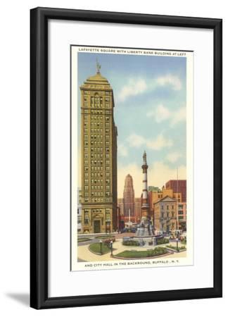 Lafayette Square, City Hall, Buffalo, New York--Framed Art Print
