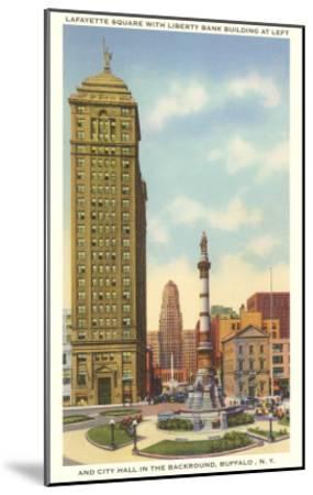 Lafayette Square, City Hall, Buffalo, New York--Mounted Art Print