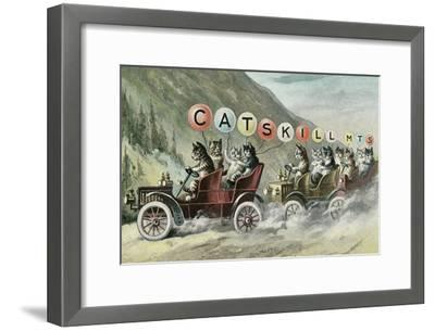 Cats in Cars, Catskill Mountains, New York--Framed Art Print