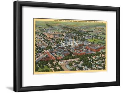 Aerial View of Kodak Park, Rochester, New York--Framed Art Print