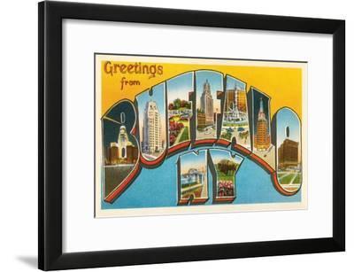 Greetings from Buffalo, New York--Framed Art Print