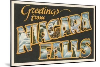 Greetings from Niagara Falls--Mounted Art Print