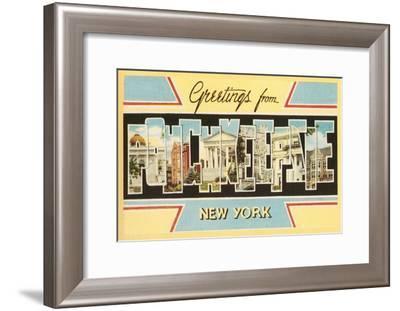 Greetings from Poughkeepsie, New York--Framed Art Print
