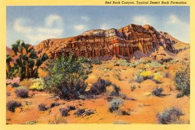 Red Rock Canyon, Nevada--Stretched Canvas Print