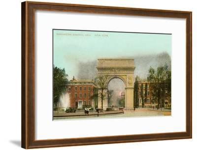 Washington Memorial Arch, New York City--Framed Art Print