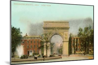 Washington Memorial Arch, New York City--Mounted Art Print