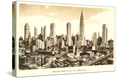 Midtown Skyline, New York City--Stretched Canvas Print