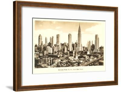 Midtown Skyline, New York City--Framed Art Print